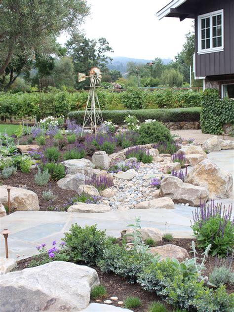 mediterranean backyard designs rock garden designs looks good as your front yard