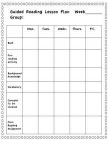 guided reading lesson plans grade literacy