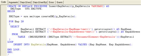 procedure tutorial in oracle ado net datatable as xml parameter to an oracle sql server