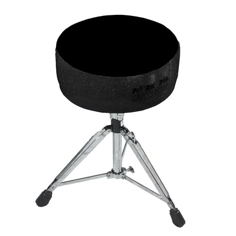 Pork Pie Drum Stool by Pork Pie Seat Black Sparkle Black Drum Throne Pprthgblkb