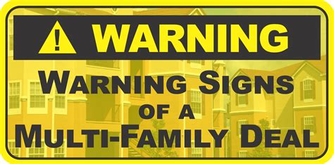 thinking of buying apartments 5 warning signs of a bad deal warning signs of a multi family apartment deal m5