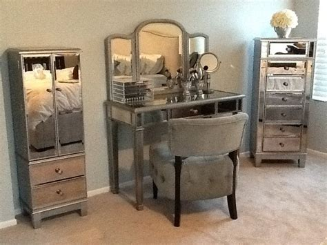 hayworth mirrored bedroom furniture collection with quot hayworth vanity quot and makeup storage youtube