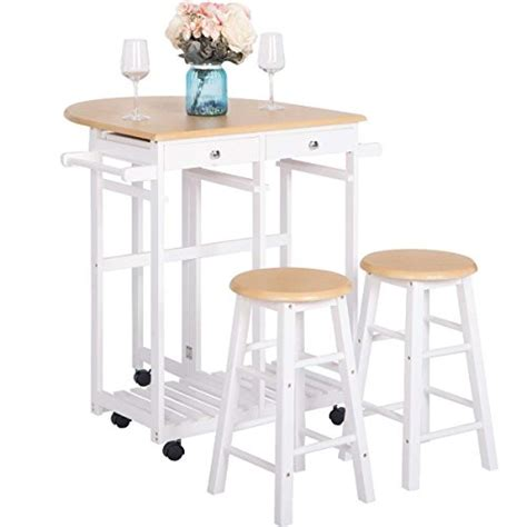Breakfast Cart With 2 Stools by Breakfast Cart With 2 Stools Julyfox Drop Leaf Kitchen