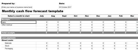 Professional Personal Financial Statement Template Free Excel Tmp Monthly Flow Template