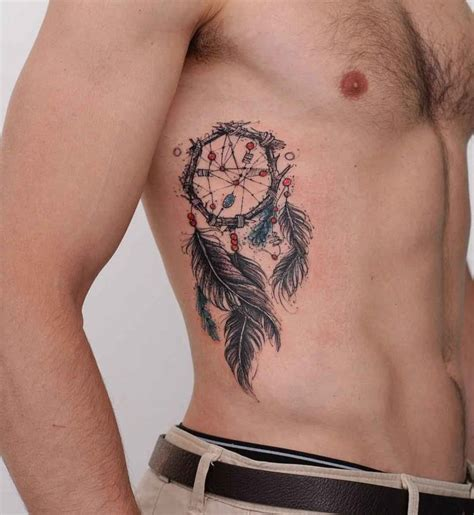 dream catcher tattoo stomach dreamcatcher tattoo best tattoo ideas gallery