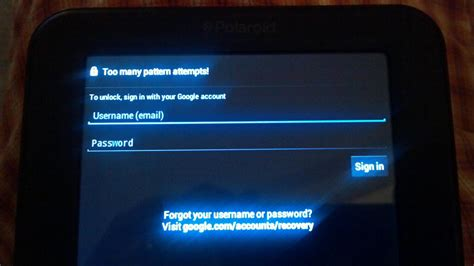 pattern lock android too many attempts too many pattern attempted android message