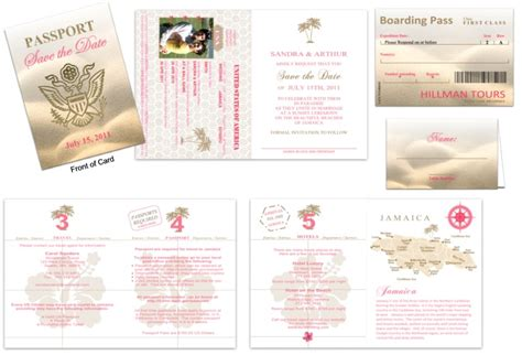 Wedding Passport Template passport wedding invitations template free