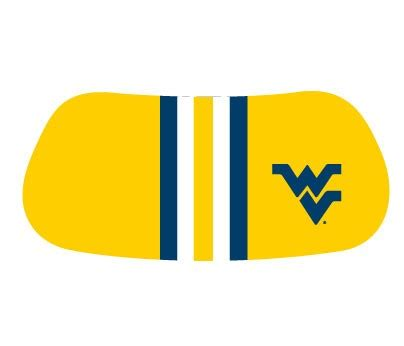 wvu colors wvu stickers wvu gear football stripes