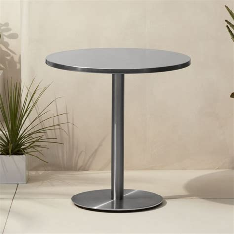 Dining Room Tables With Storage watermark stainless steel bistro table cb2