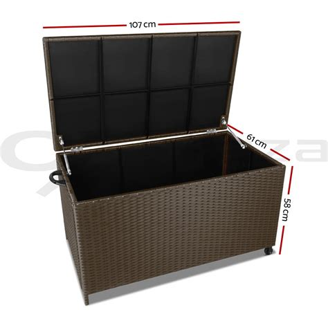 rattan outdoor storage bench 320l outdoor storage box rattan sturdy bench pe wicker