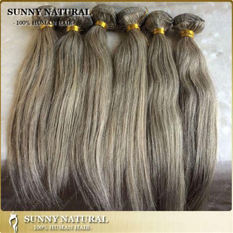 grey human hair extensions 2015 new hair 10 quot 26 quot silver grey hair