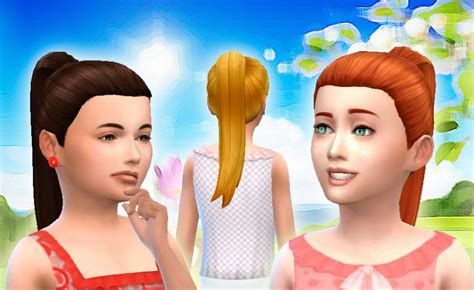 childs hairstyles sims 4 sims 4 hairs mystufforigin pony tail tight for girls