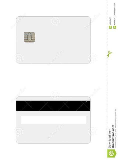 Blank Credit Card Template Free Credit Debit Card Template Stock Photo Image 49918475