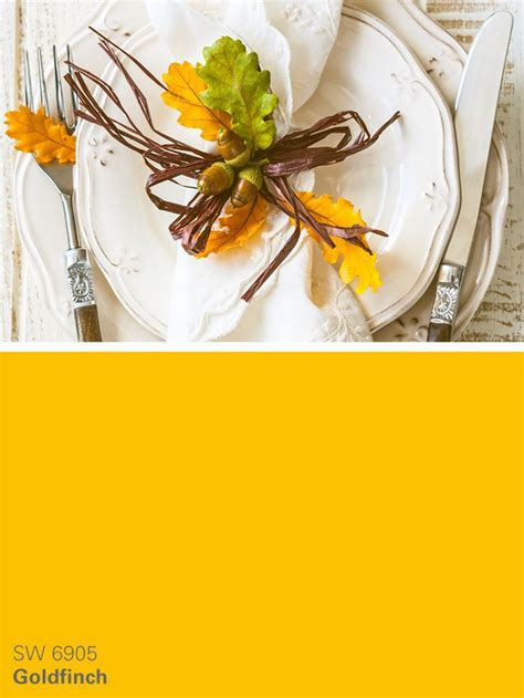 sherwin williams yellow paint color goldfinch sw 6905 inspiration for paints