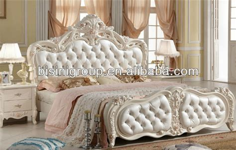 new classical style bed in white with geniune