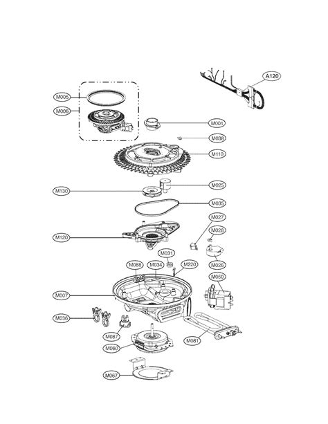 lg dishwasher parts diagram lg dishwasher parts model lds5040bb sears partsdirect