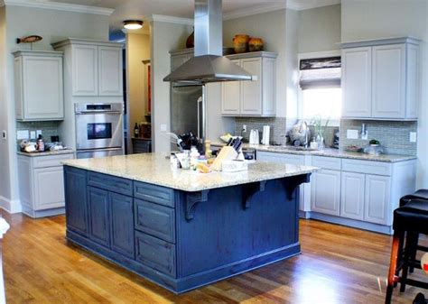 kitchen island i love the blue