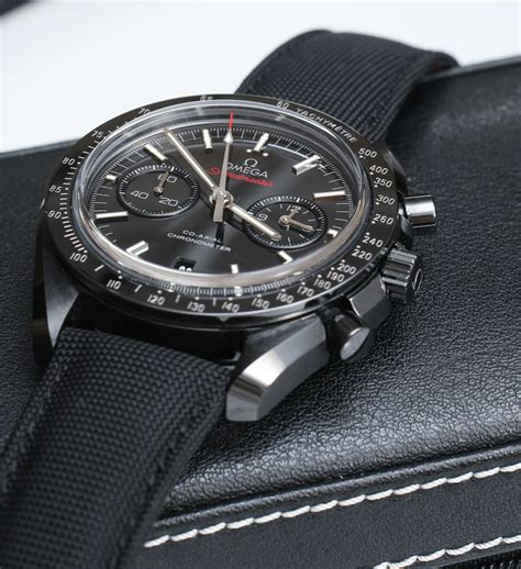 Omega Speedmaster Co Axial Chronograph Dark Side Of The Moon Black Ceramic Watch Review