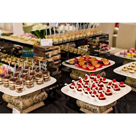 wedding catering by big onion food caterer desserts