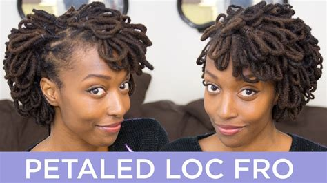 how mature women lock their hair loc hairstyle tutorial petaled loc fro youtube