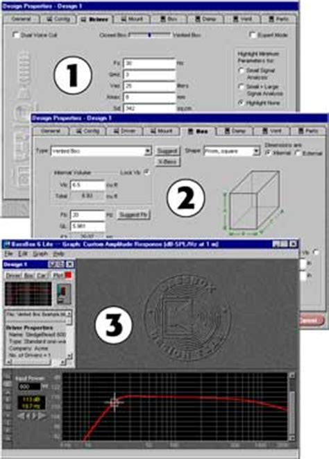 audio video layout software car audio bassbox lite box design software