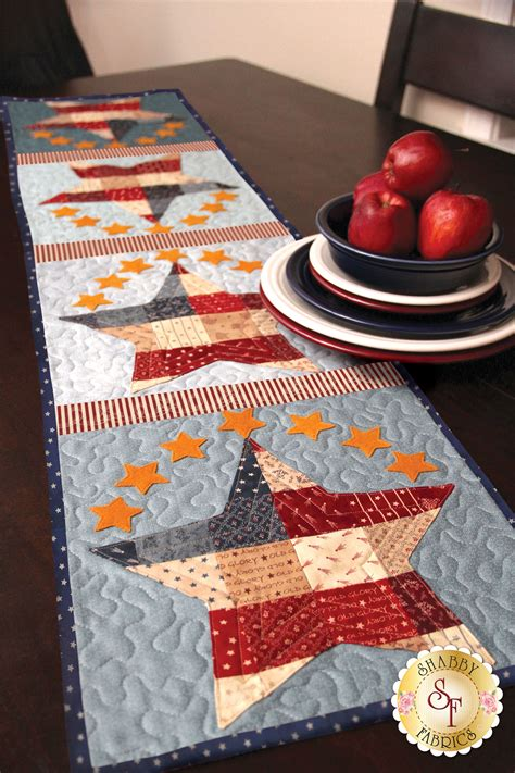 Patchwork Kit - patchwork patriotic table runner kit
