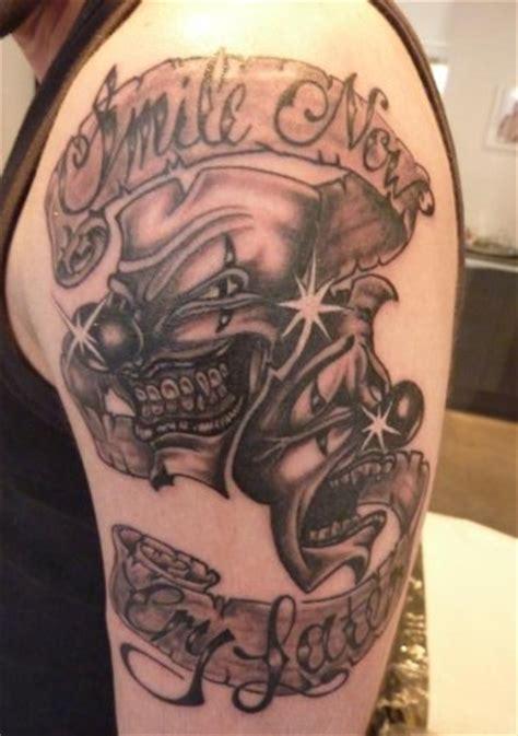 tatuaje de payaso maldito joker
