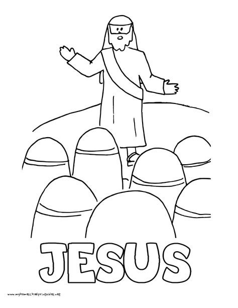 template of jesus teaching jesus beatitudes coloring page coloring pages