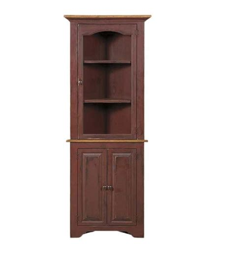 Corner Cabinet Glass Doors Corner Cabinet With Glass Door Carriage House Furnishings