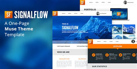 muse themes facebook preview signalflow one page muse template by tornadador