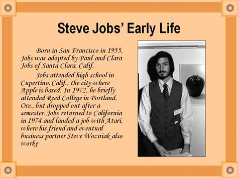history of steve jobs life steve jobs early life презентация 18188 2