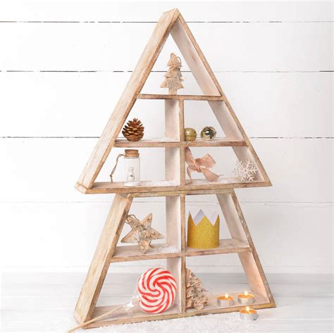 christmas shelf display wooden display shelf tree by thelittleboysroom notonthehighstreet