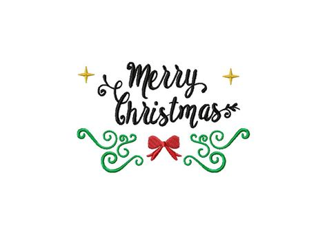 merry christmas black label embroidery design daily embroidery