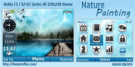 nokia x2 nature themes nature painting live theme for nokia c3 x2 01 themereflex