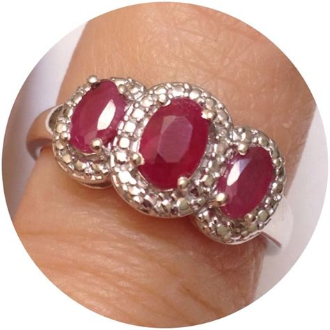 Ruby 4 59 Ct genuine ruby ring 1 35 cts 8 from violetskys s closet on