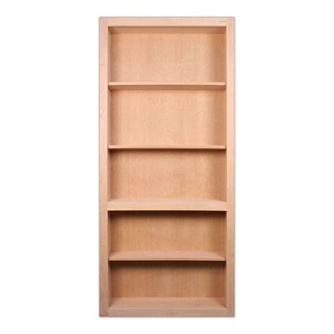 72 inch bookcase with doors invisidoor 32 in x 81 in unfinished red oak 4 shelf