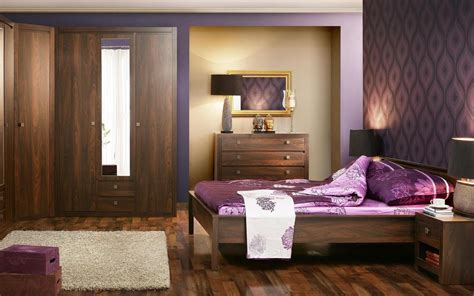 purple bedroom white furniture nightstand drawers completed purple walls bedroom ideas