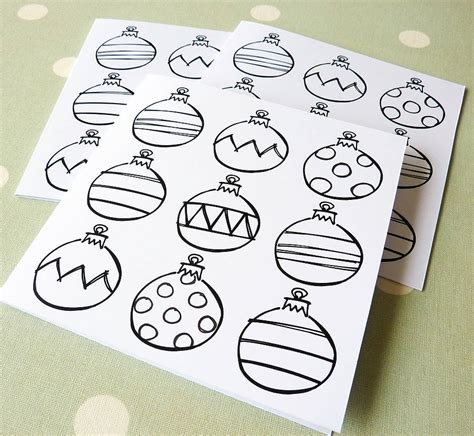 colour in baubles colour in bauble cards by cherub design