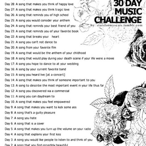 8tracks radio 30 day song challenge 25 songs free 8tracks radio 30 day song challenge 16 songs free