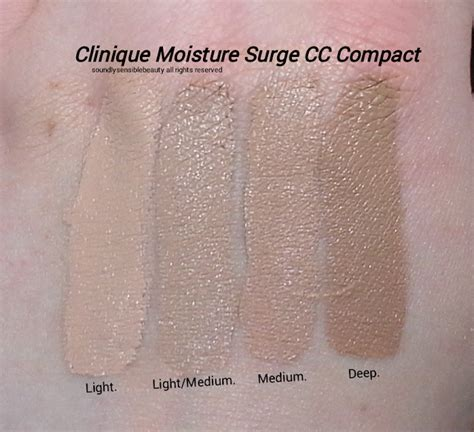 clinique moisture surge cc light medium clinique moisture surge cc compact review swatches of