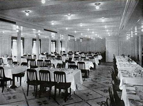 speisesaal high tables rms titanic page one