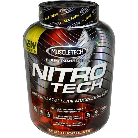 Whey Muscletech Muscletech Performance Series Nitro Tech Whey Isolate