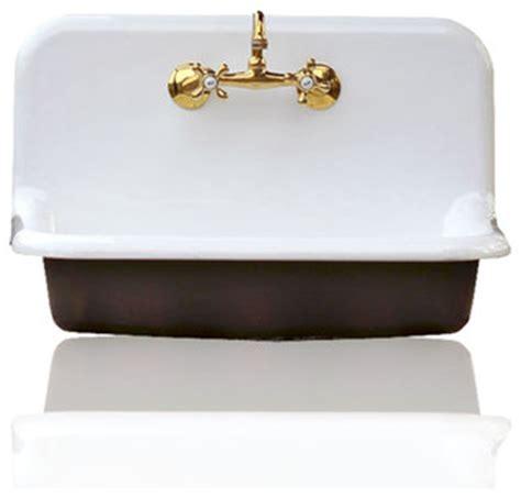 30 Porcelain Kitchen Sink 30 Quot High Back Farm Sink Cast Iron Porcelain Kitchen Sink