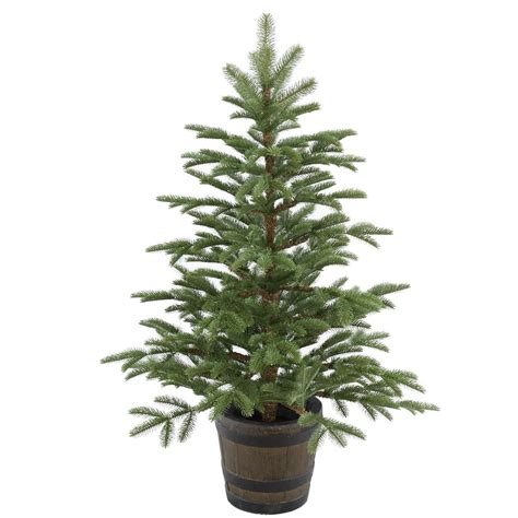 3ft hton spruce potted feel real artificial christmas tree national tree company 4 ft spruce entrance artificial tree with clear