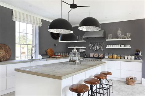 Kitchen Central Island 50 gorgeous gray kitchens that usher in trendy refinement