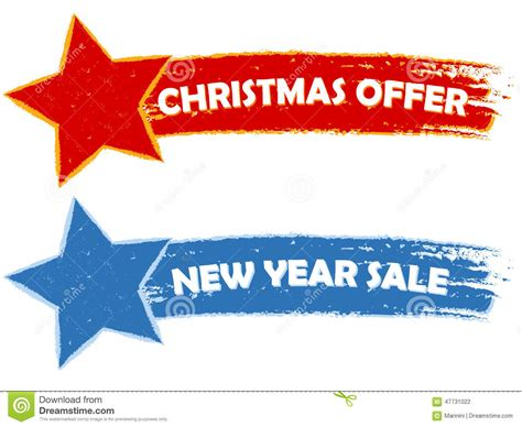new year promotion banner offer new year sale two banners stock
