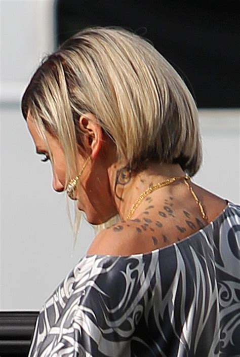 cameron diaz haircut in the counselor cameron diaz sported a neck tattoo for her role in the