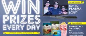 Mrs Cubbison S Sweepstakes - mrs cubbison s family movie night giveaway sweepstakes win a 50 3d plasma tv more