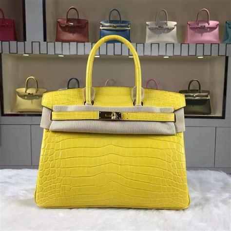 Hermes Bag Kayu Yellow wholesale hermes birkin bag30cm crocodile matt leather 9r lemon yellow s handbag hermes