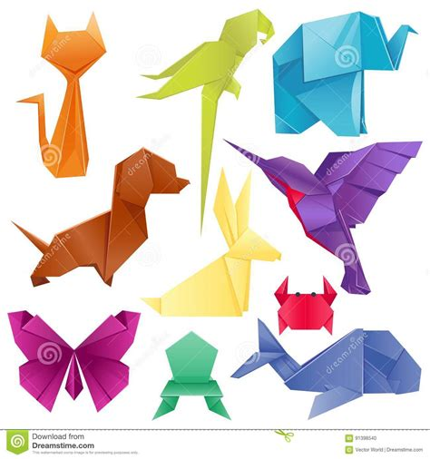 animals origami set japanese folded modern wildlife hobby